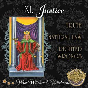 Justice Tarot Card 600x600