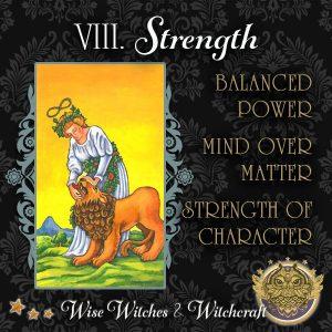 Strength Tarot Card - Witch Quiz 600x600