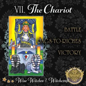 The Chariot Tarot Card 600x600
