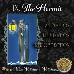 The Hermit Tarot Card 600x600