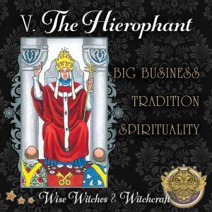 The Hierophant Tarot Card 600x600