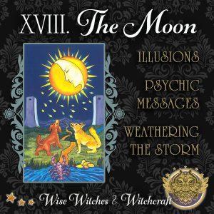 The Moon Tarot Card 600x600
