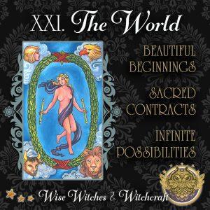 The World Tarot Card 600x600