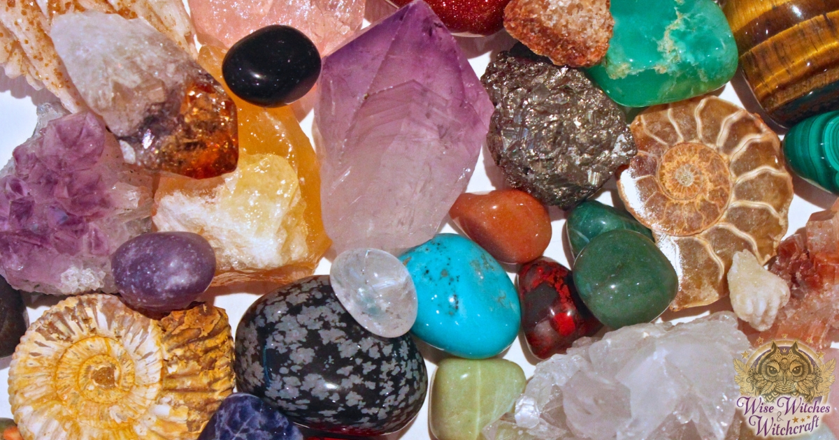 common magical crystals sacred stones & meanings 1200x630