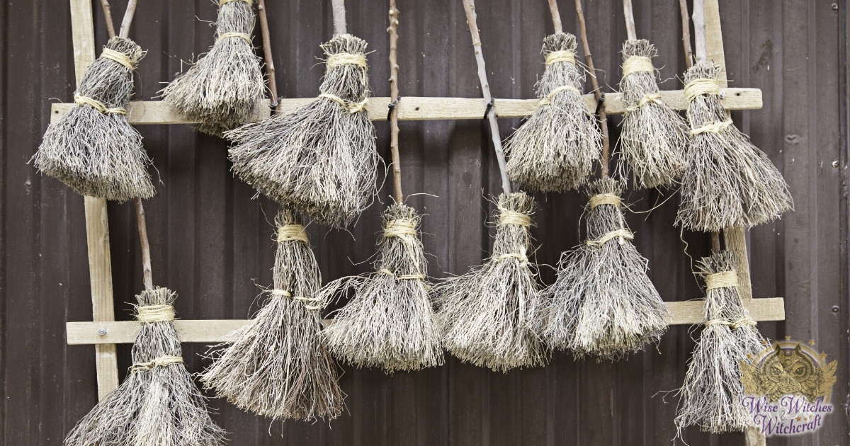 Traditionally-made besom broom