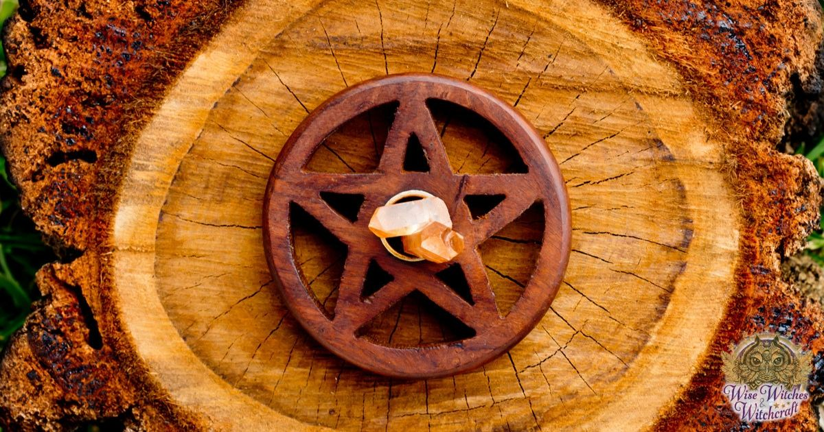 The pentagram or pentangle (as opposed to pentacle) is a central symbol of Wicca